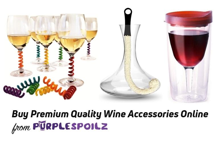 Buy Premium Quality Wine Accessories Online from PurpleSpoilz