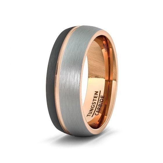 httpswww.americantungsten.comblogwp-contentuploads201803tungsten-ring-tri-tone-dome-black-rose-gold-groove-comfort-fit-3